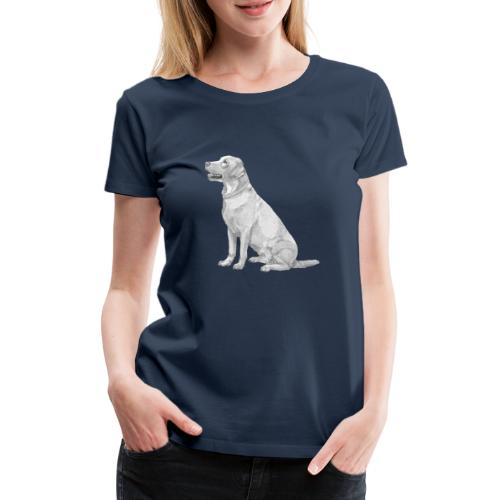 labrador Retriever Yellow sit - Dame premium T-shirt