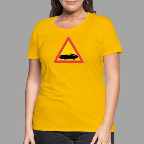 Traffic sign velomobile - Naisten premium t-paita