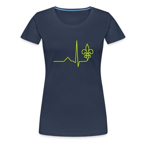Scouts Heartbeat - Women's Premium T-Shirt