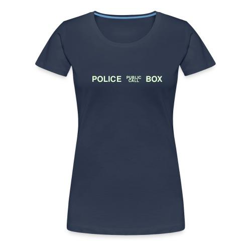Navy Police Box Girlie - Frauen Premium T-Shirt