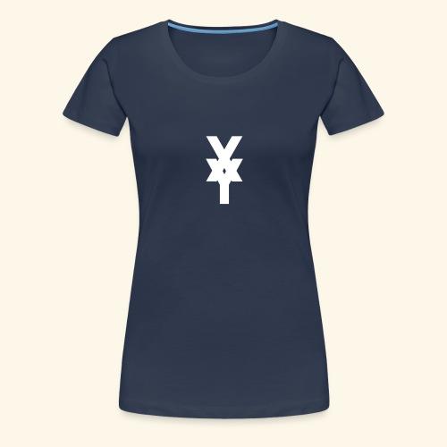 XY Logo White - Women's Premium T-Shirt