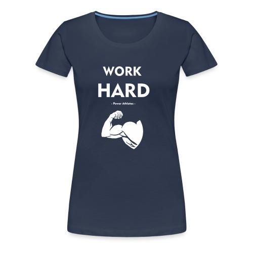 work_hard_white_logo - Vrouwen Premium T-shirt