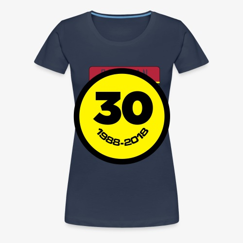 30 Jaar Belgian New Beat Smiley - Vrouwen Premium T-shirt