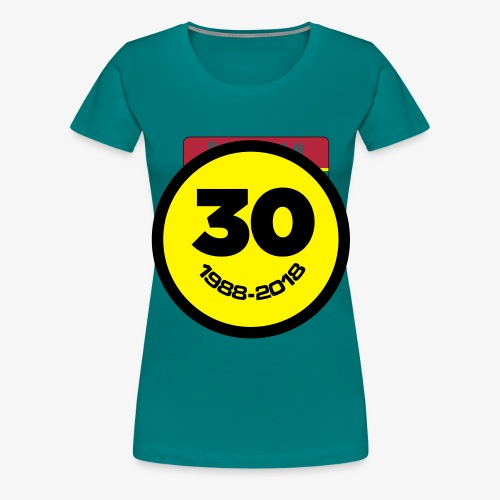 30 Jaar Belgian New Beat Smiley - Vrouwen Premium T-shirt