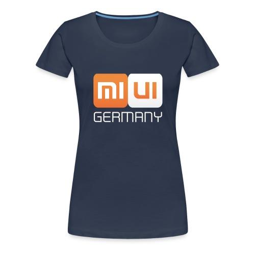 MIUI Ger Logo Kompakt png - Frauen Premium T-Shirt