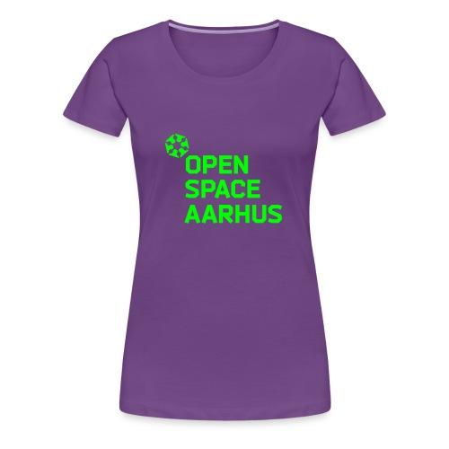osaa logo neon rgb - Dame premium T-shirt