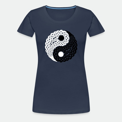Yin und Yang Keltische Knoten Geschenk Yoga Zen - Women's Premium T-Shirt