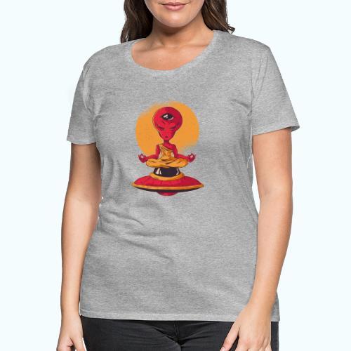 Alien meditation - Women's Premium T-Shirt