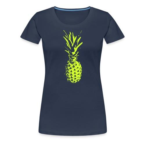 Ananas_neon_gelb - Frauen Premium T-Shirt
