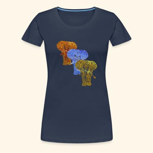 Henna Elephant Mehndi - Women's Premium T-Shirt