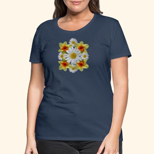 Narzissen Margeriten Osterglocken Blumen Blüten - Frauen Premium T-Shirt