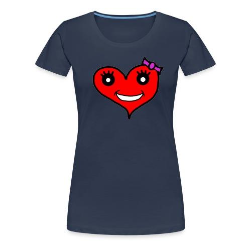Herz Smiley Schlaufe - Frauen Premium T-Shirt