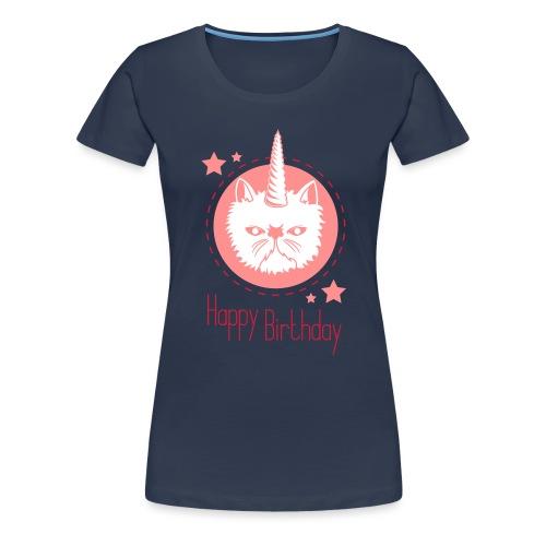Einhorn- Katze - Frauen Premium T-Shirt