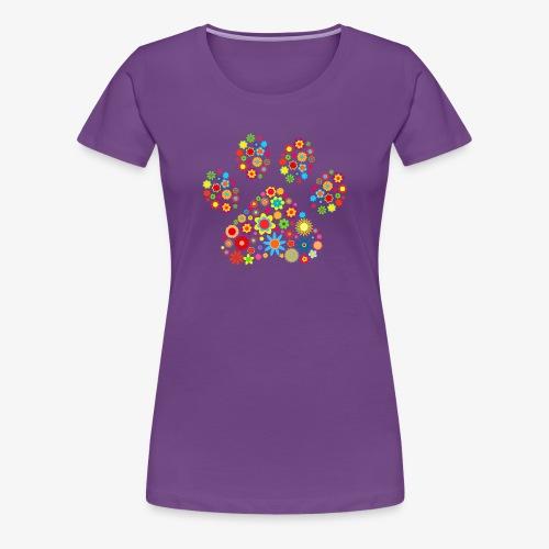 flower dog paw cat - Frauen Premium T-Shirt