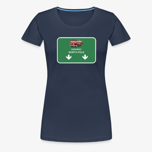 highway to the North Pole - Women's Premium T-Shirt