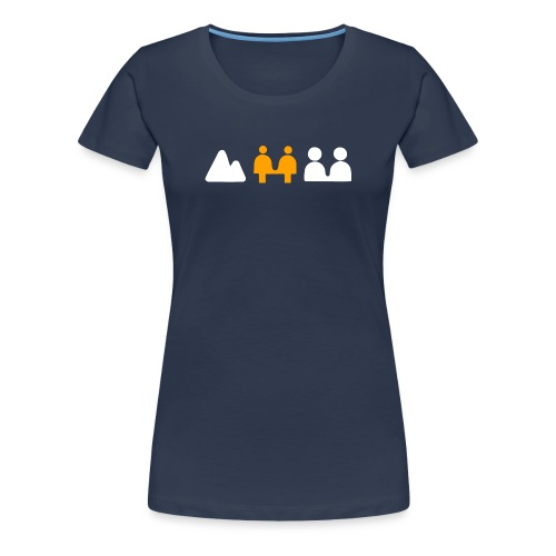 Retro camera zone focus - Women's Premium T-Shirt