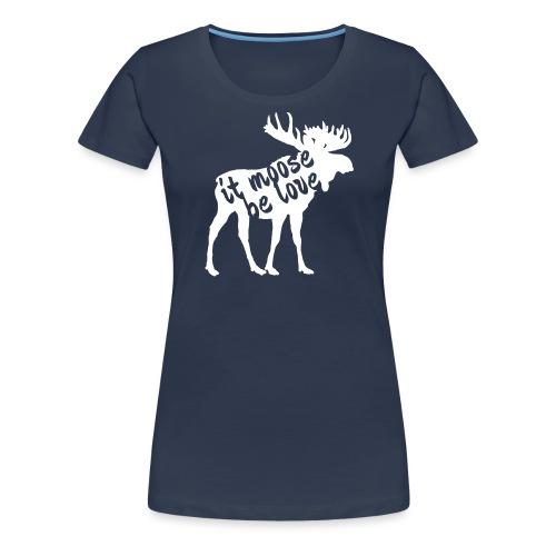 Skandinavien Liebe Elch Geschenk - Frauen Premium T-Shirt