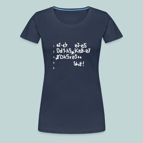Schachpartie - Frauen Premium T-Shirt