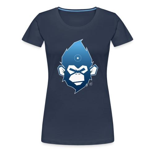 monkeyZ degrade bleu - T-shirt Premium Femme