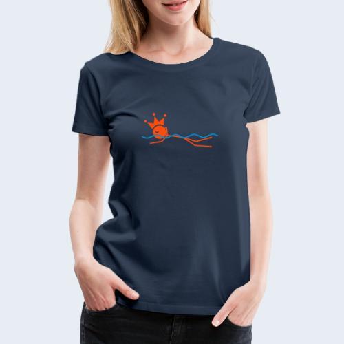 Zwemkoning - Vrouwen Premium T-shirt