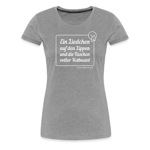 Liedchen weiss - Frauen Premium T-Shirt