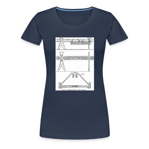 Schwebebahnskizze - Frauen Premium T-Shirt
