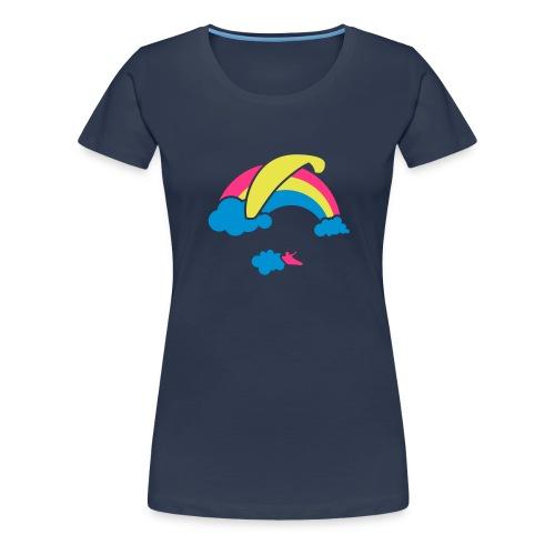 Rainbow & Clouds Paragliding - Women's Premium T-Shirt