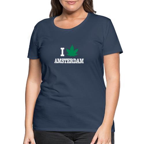 I CANNABIS AMSTERDAM - Frauen Premium T-Shirt
