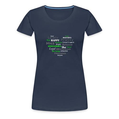 hart met tekst groot.png - Vrouwen Premium T-shirt
