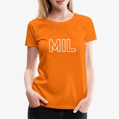 MIL_140%_Vektor_Outline_W - Frauen Premium T-Shirt