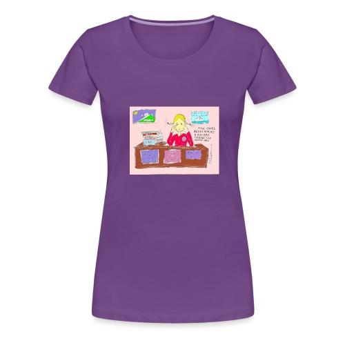 travelagentup - Women's Premium T-Shirt