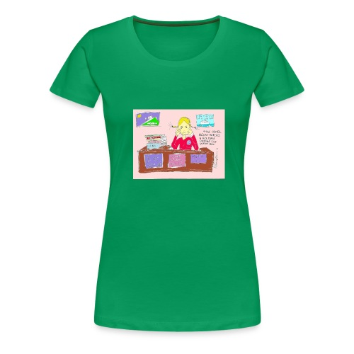travelagentup - Women's Premium T-Shirt