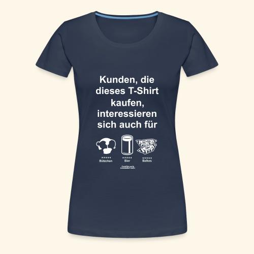 Karneval T Shirt Düsseldorf   Bier, Bützchen - Frauen Premium T-Shirt