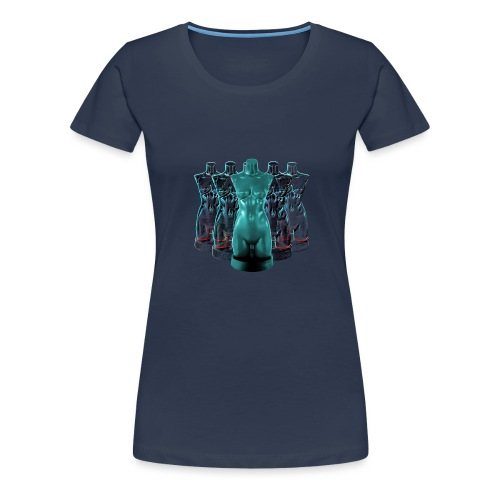 Lady Rosso Corsa and Her Dancers (turquoise) - Dame premium T-shirt