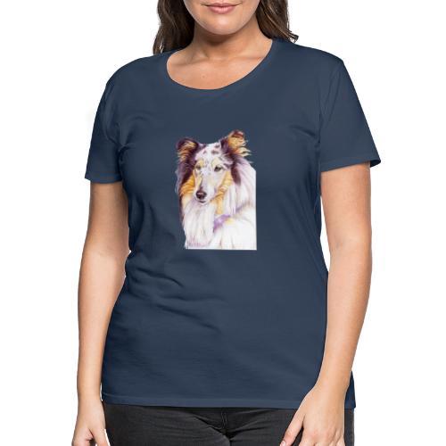Collie bluemerle - Dame premium T-shirt