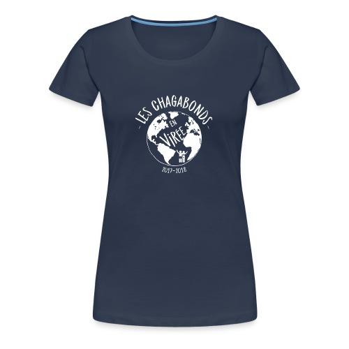 LOGO CHAGABONDS blanc - T-shirt Premium Femme