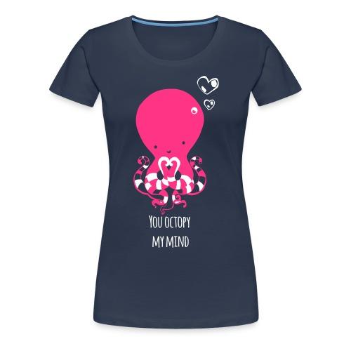 Tintenfisch Spruch dunkel - Frauen Premium T-Shirt