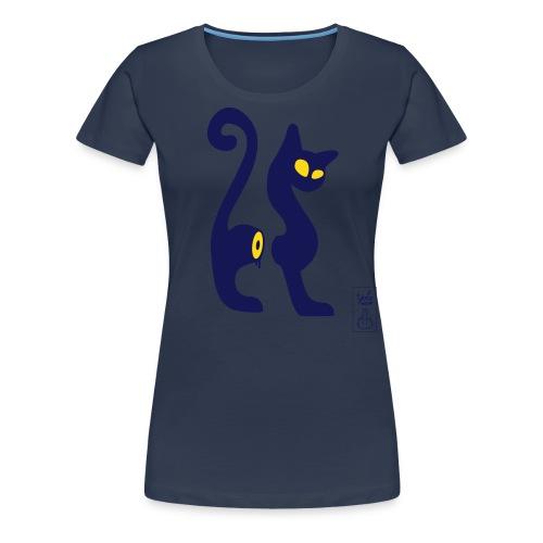 cut-cat 2 couleurs - T-shirt Premium Femme