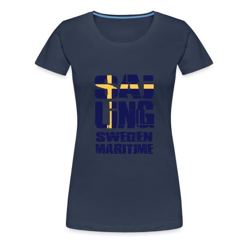 Sweden Maritime Sailing - Women's Premium T-Shirt