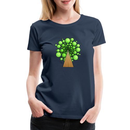 Kugel-Baum, 3d, hellgrün - Frauen Premium T-Shirt