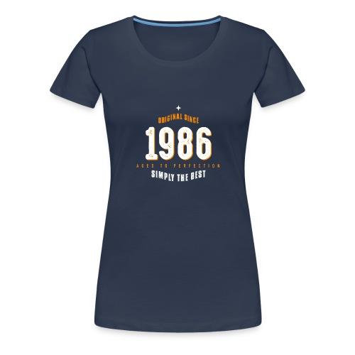 original since 1986 simply the best 30th birthday - Women's Premium T-Shirt