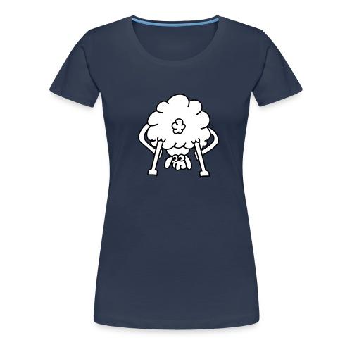 schaf von hinten - Frauen Premium T-Shirt