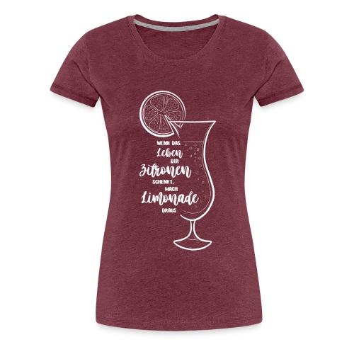 Wenn das Leben dir Zitronen schenkt - Illustration - Frauen Premium T-Shirt