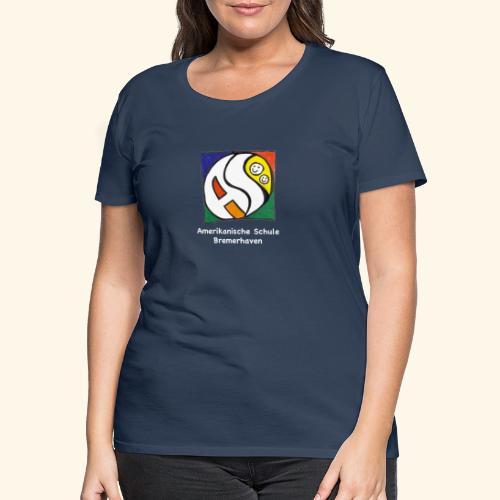 AS (weisse Schrift) - Frauen Premium T-Shirt