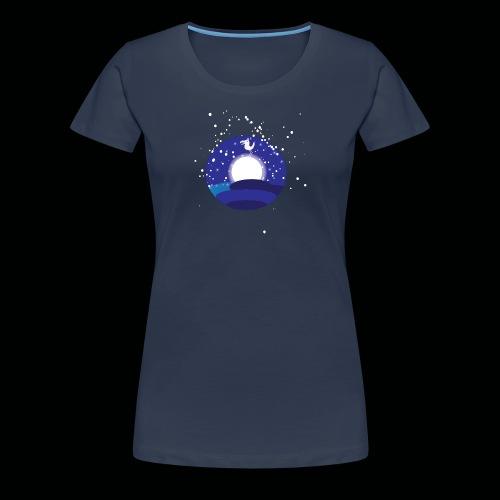 Der Mond hat n Vogel - Frauen Premium T-Shirt