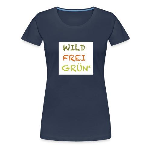 Logo WILD FREI GRÜN jpg - Frauen Premium T-Shirt