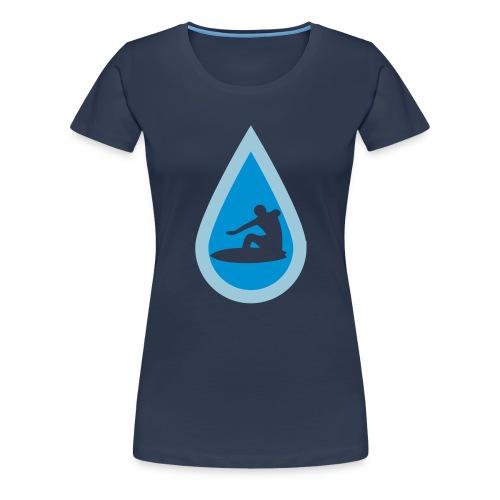 Surfing Waves in Rain - Frauen Premium T-Shirt
