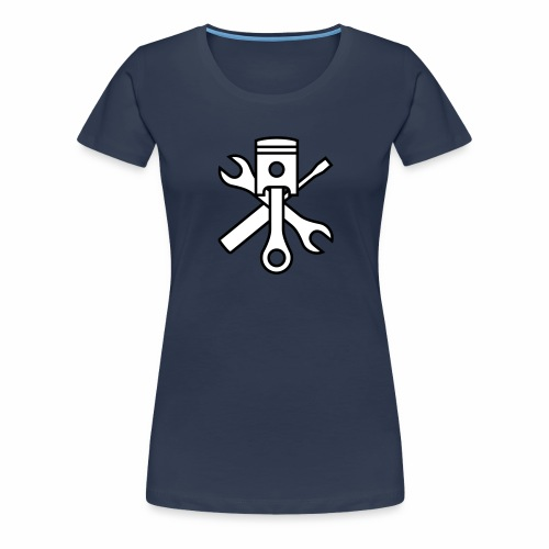 Pistons and tools 2c (+ your text) - Women's Premium T-Shirt