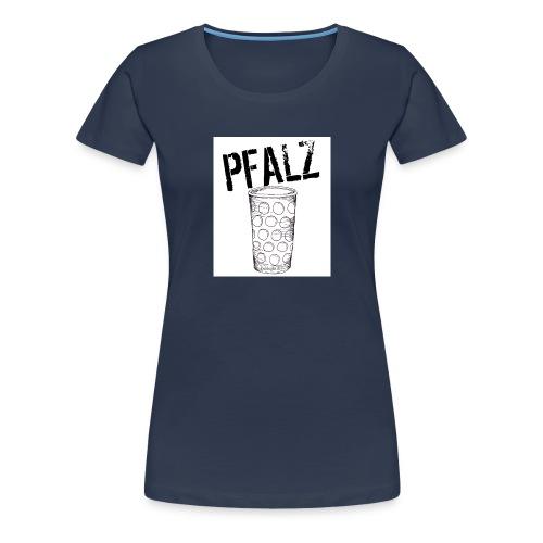 Pfalzshirt mit Dubbeglas, weiß - Frauen Premium T-Shirt