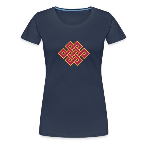 Tibetanischer Endlos Knoten Buddhismus - Frauen Premium T-Shirt